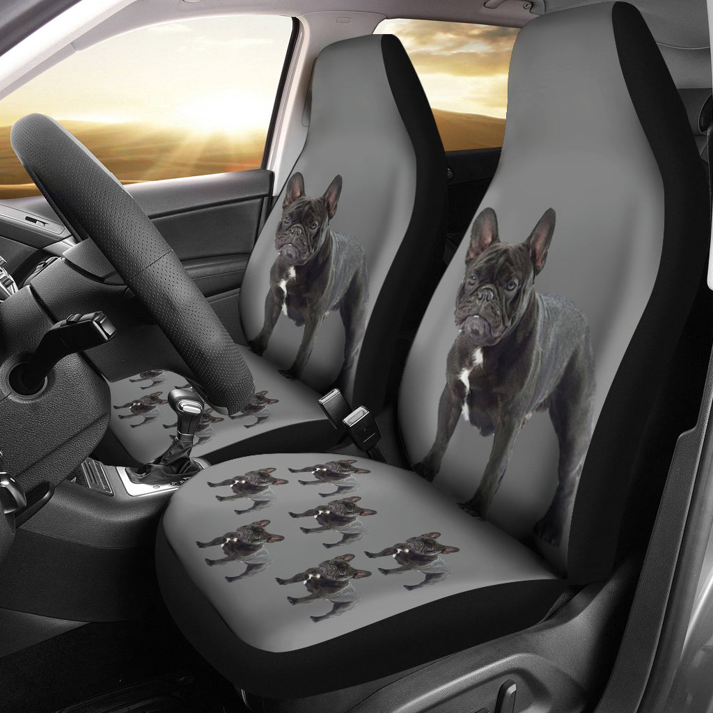 French Bulldog Car Seat Covers - Grey (Set of 2)