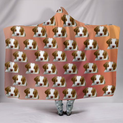 Brittany Spaniel Hooded Blanket