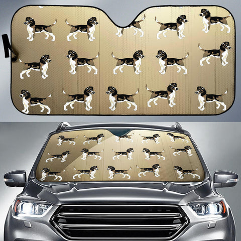 Beagle Car Sun Shade - Multi