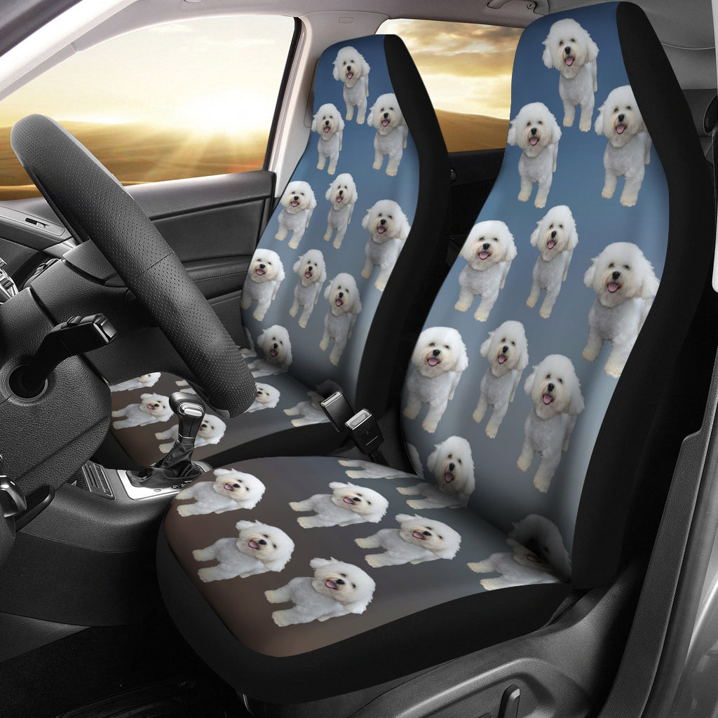 Bichon Frise Car Seat Cover (Set of 2)