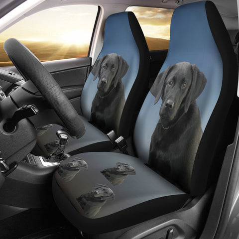 Black Labrador Car Seat Covers - Set of 2
