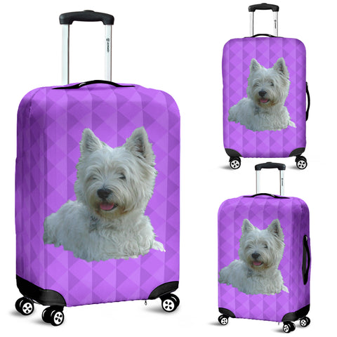 Westie Luggage Cover
