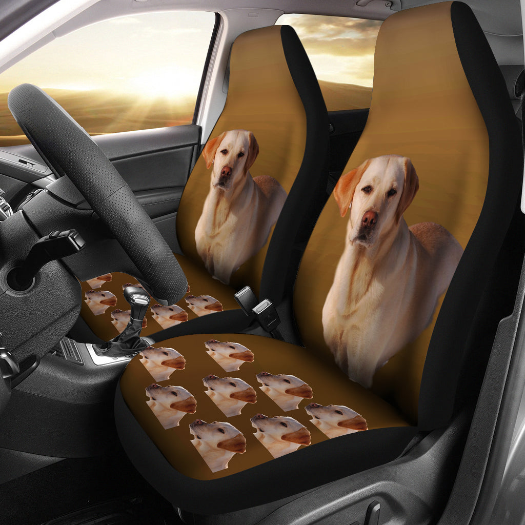 Yellow Labrador Car Seat Cover (Set of 2)