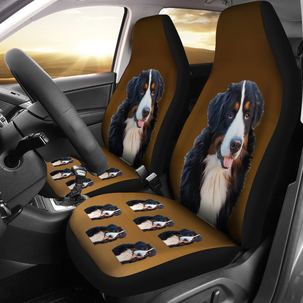 Bernese Mountain Dog Car Seat Covers (Set of 2)