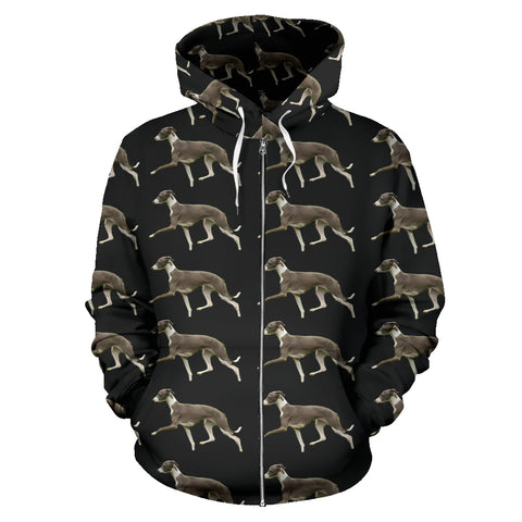 Italian Greyhound Zip Up Hoodie