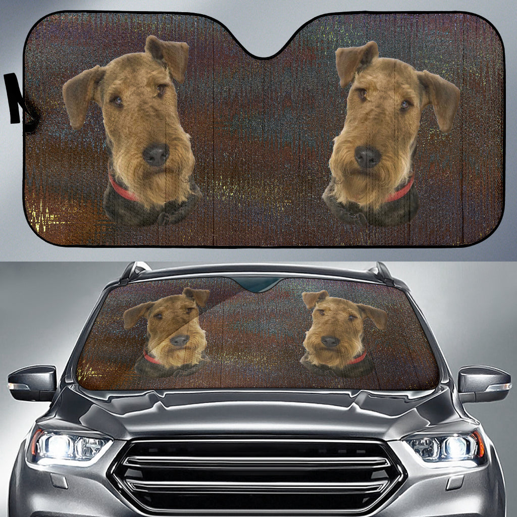 Welsh Terrier Car Sun Shade