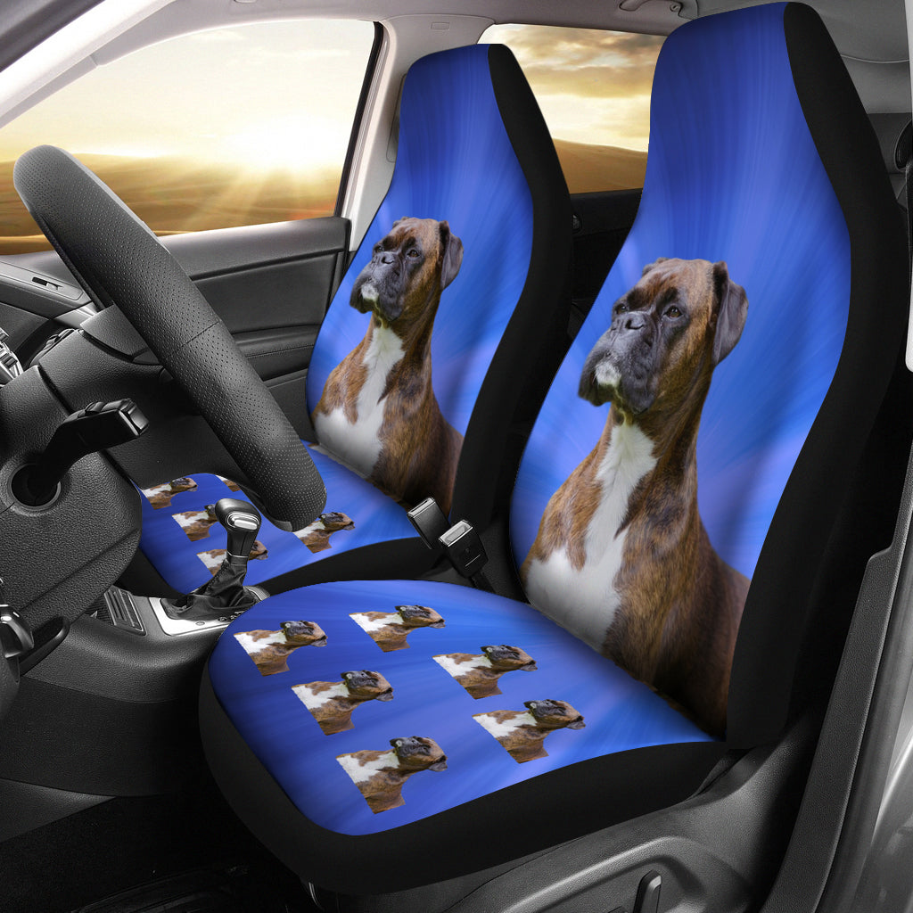 Boxer Car Seat Covers Brindle - Set of 2
