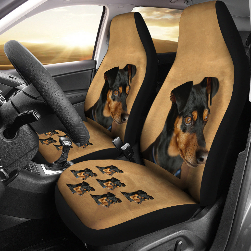 Mini Pinscher Car Seat Covers - Set of 2