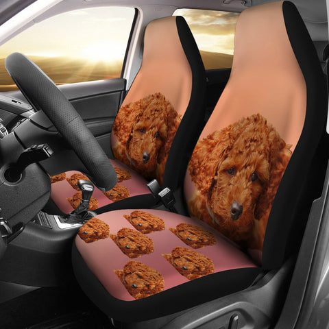 Brown Poodle Car Seat Cover (Set of 2)