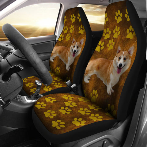 Brown Corgi Car Seat Covers (Set of2)