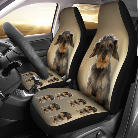 Wire Haired Dachshund 2 Car Seat Cover (Set of 2)
