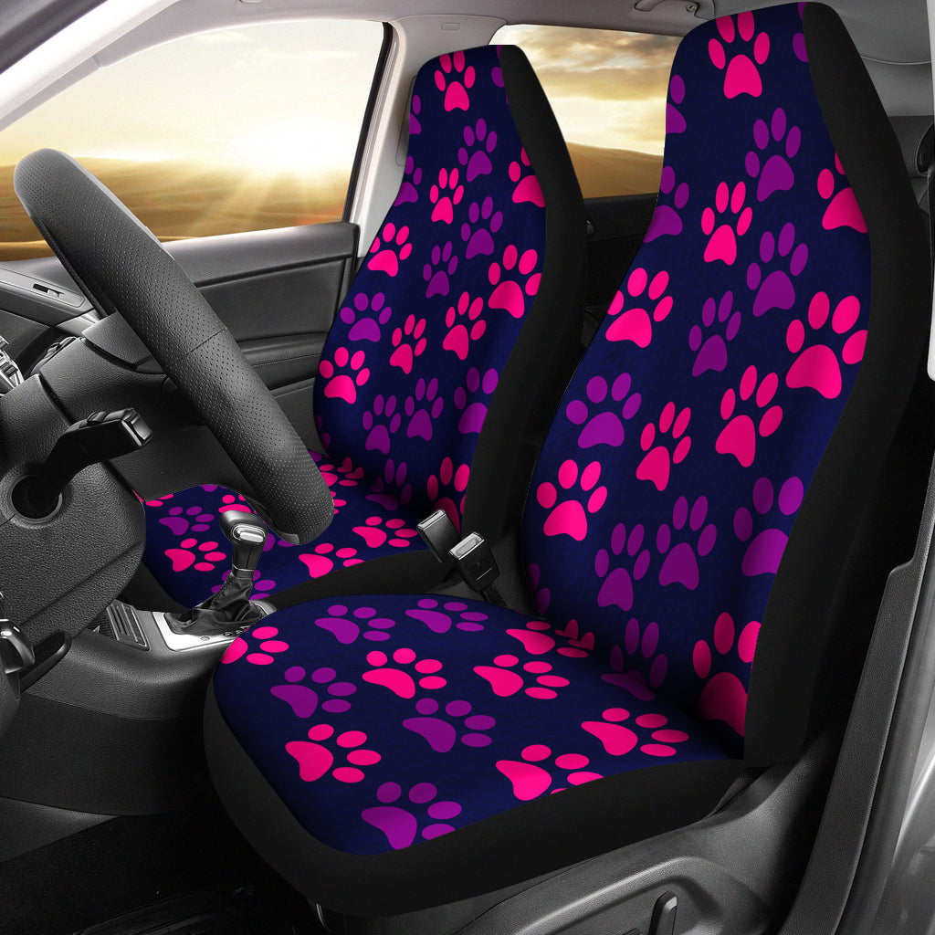 Paw Print Car Seat Covers