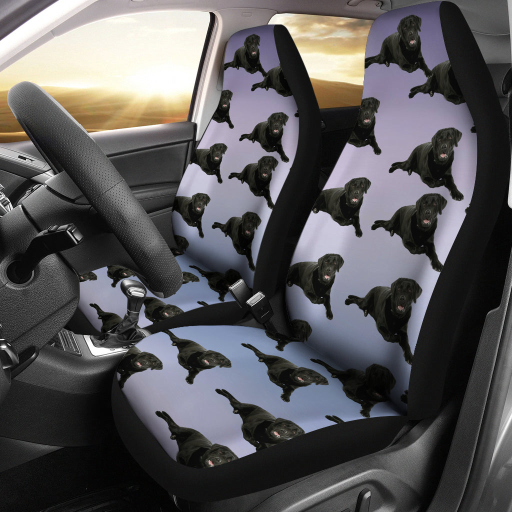 Black Lab Car Seat Cover (Set of 2)