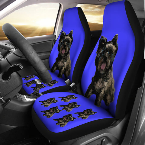 Cairn Terrier Car Seat Cover - Black (Set of 2)