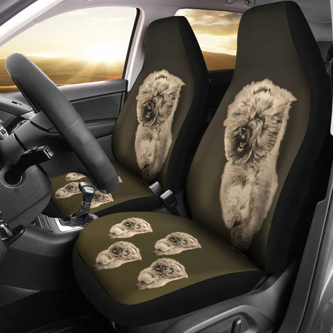 Bouvier des Flanders Car Seat Covers (Set of 2) - Tan