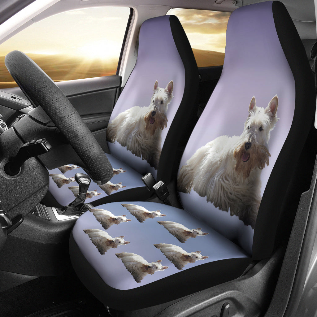 Scottish Terrier Car Seat Cover (Set of 2) - White