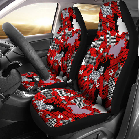 Westie Car Seat Covers - Red (Set of 2)