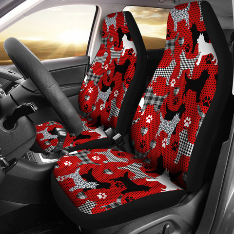 Husky Car Seat Cover - Red (Set of 2)