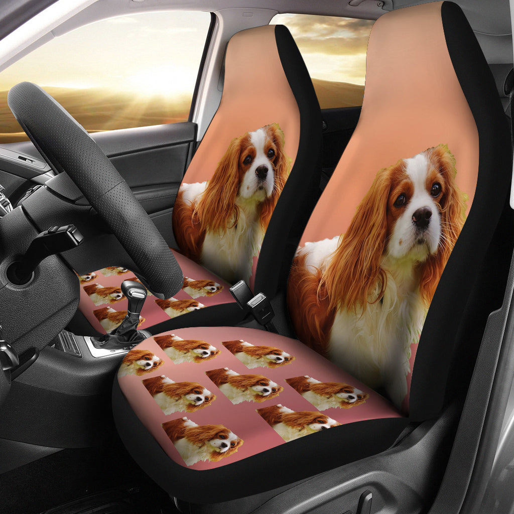 Cavalier King Charles Spaniel Car Seat Cover (Set of 2)