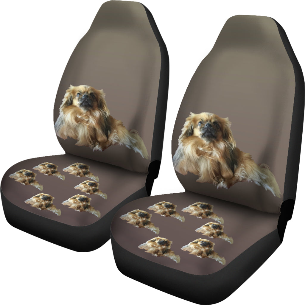 Tibetan Spaniel Car Seat Covers (Set of 2)