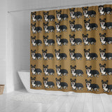 Corgi Shower Curtain - Tri Color