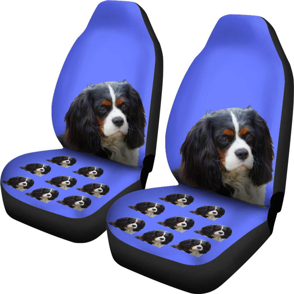 Cavalier King Charles Spaniel Tri Car Seat Covers(Set of2)