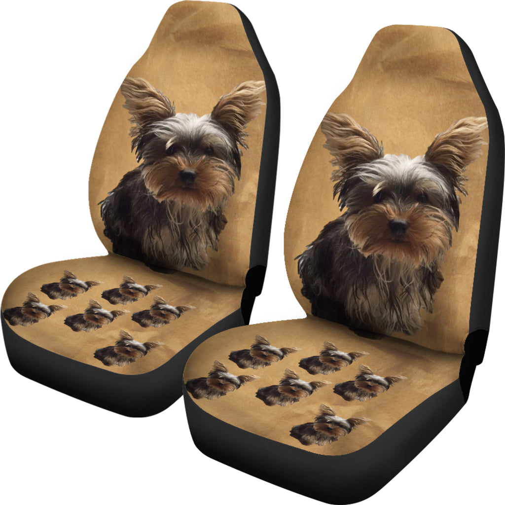Yorkie Puppy Car Seat Cover (Set of 2)