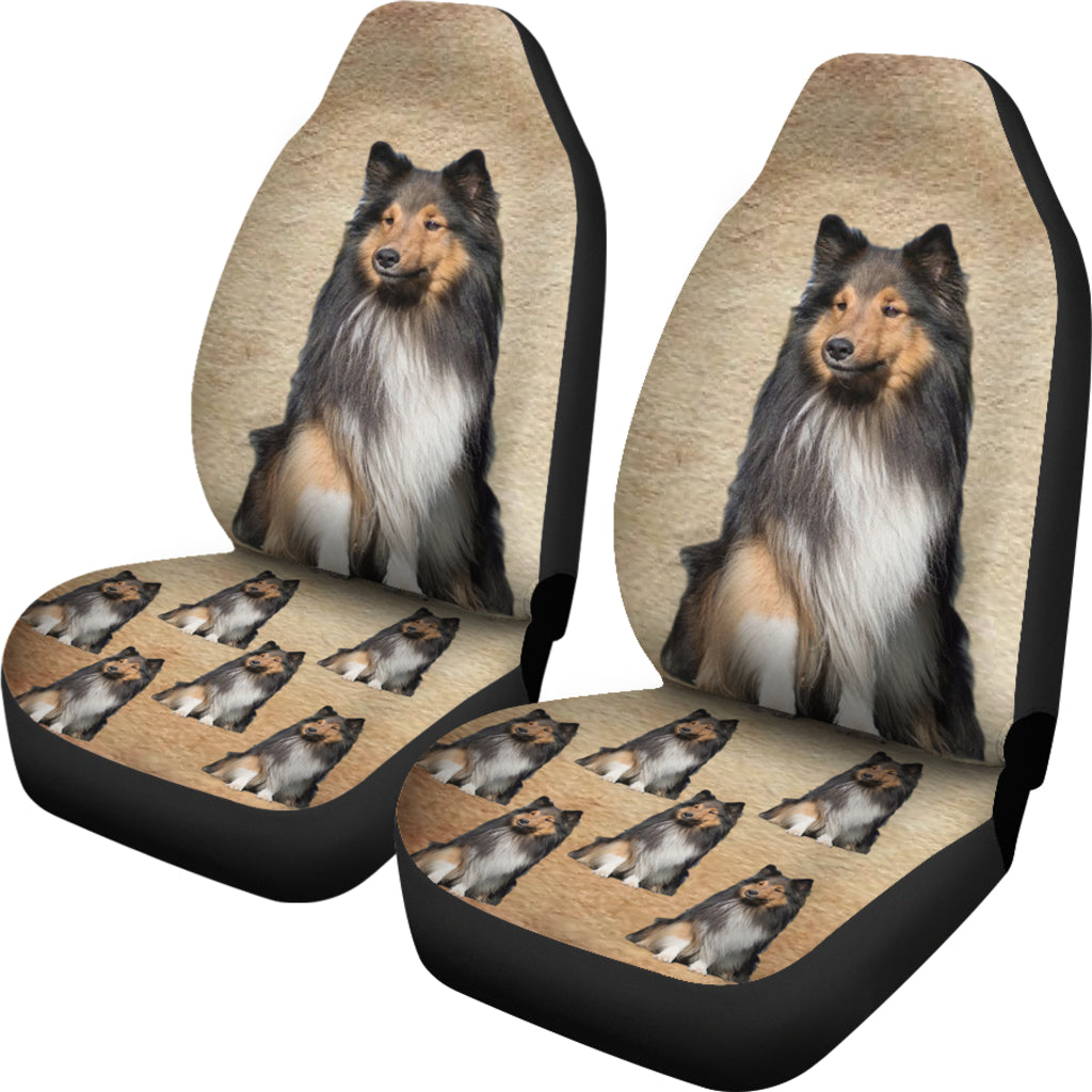 Sheltie Car Seat Cover (Set of 2)