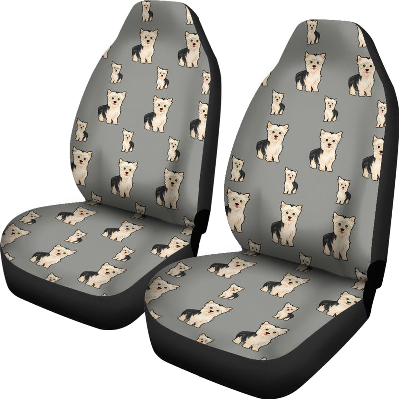 Yorkie Car Seat Cover - Grey (Set of 2)