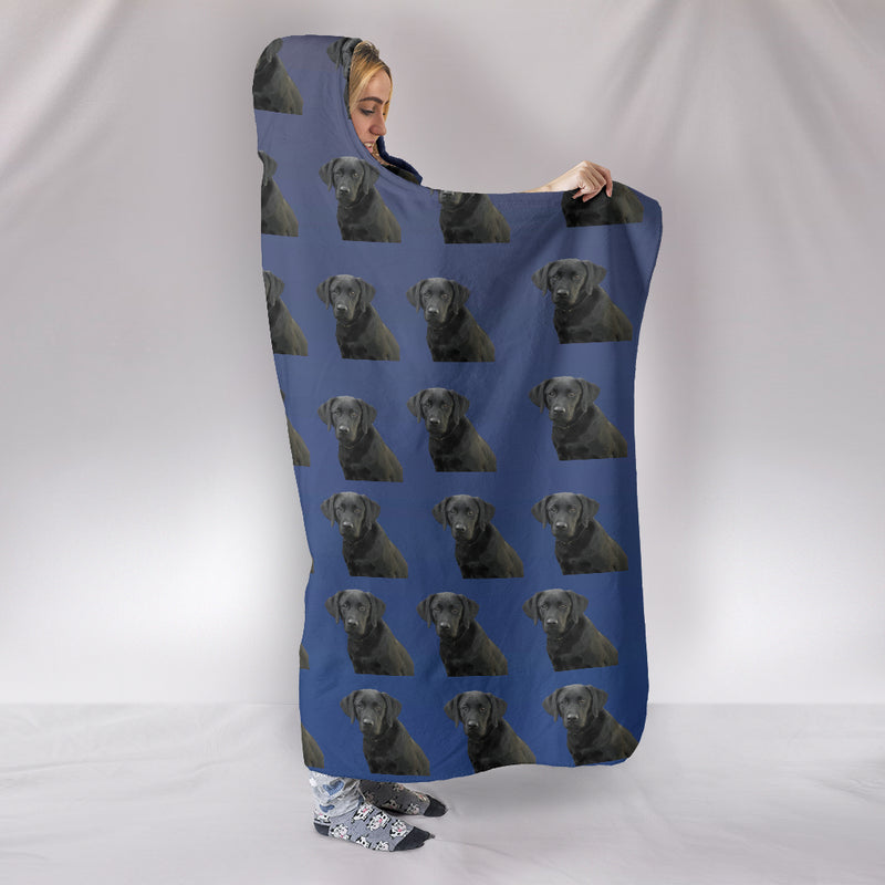 Black Labrador Hooded Blanket