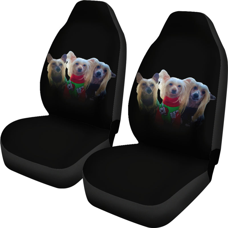 Chinese Crested Car Seat Cover (Set of 2) - 3