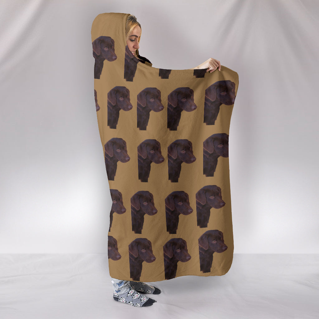 Chocolate Lab Hooded Blanket