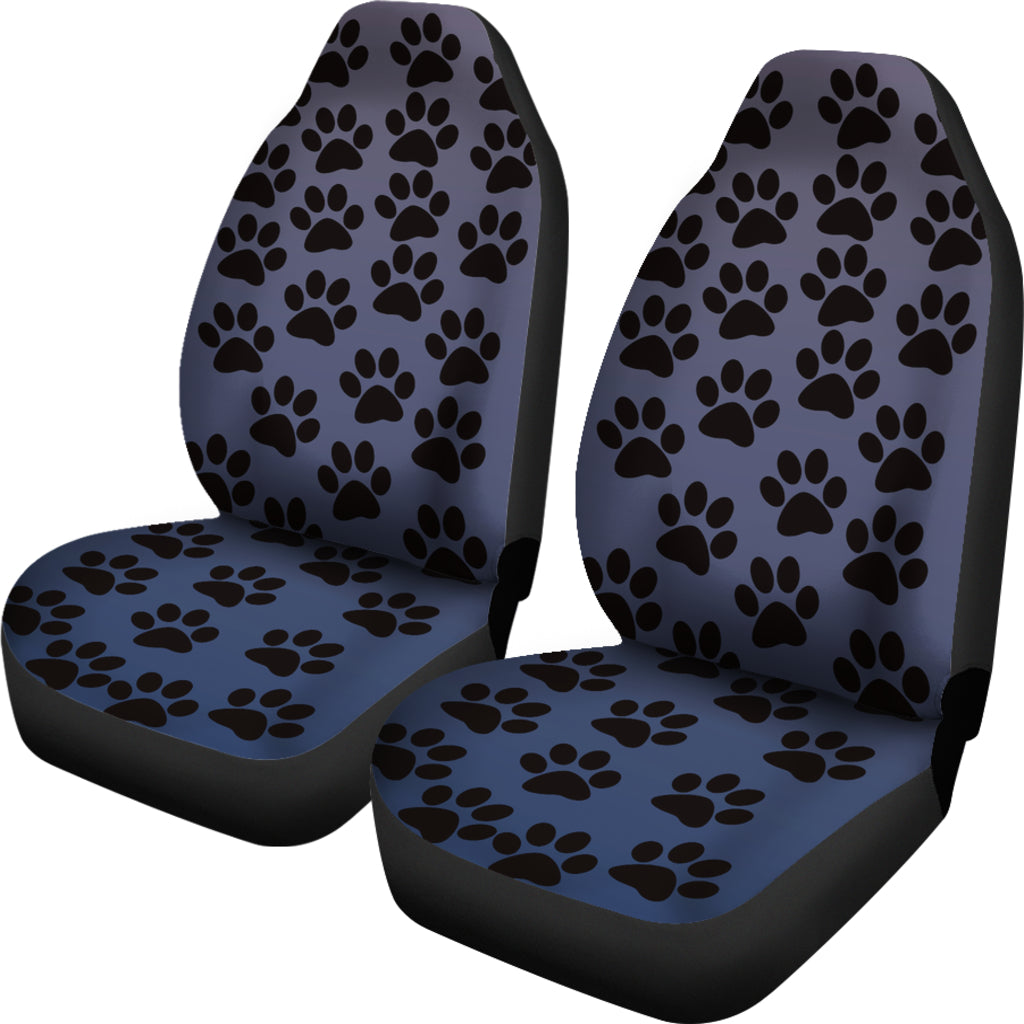 Paw Print Car Seat Covers Blue - (Set of 2)