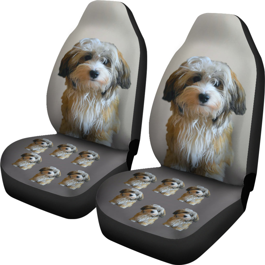 Havanese Puppy Car Seat Cover (Set of 2)