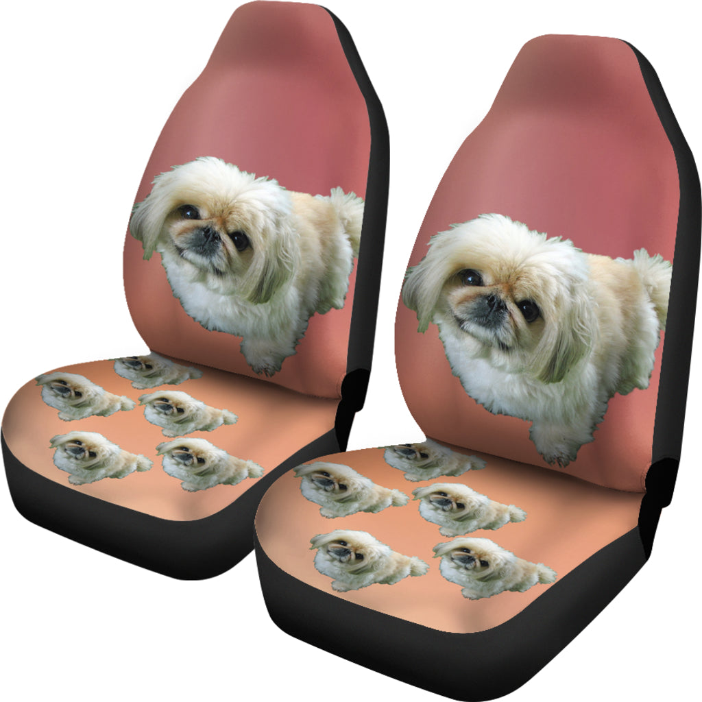 Pekingese Car Seat Cover (Set of 2)