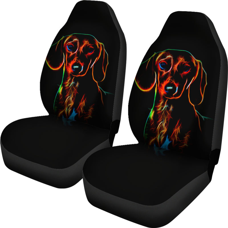 Colorful Dachshund Car Seat Cover (Set of 2)