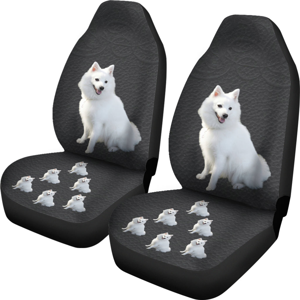 Japanese Spitz Car Seat Covers - Set 0f 2