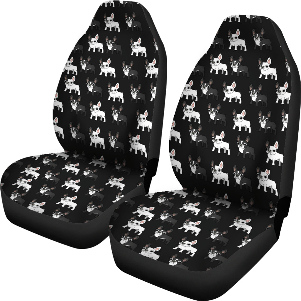 Boston Terrier Car Seat Cover (Set of 2)
