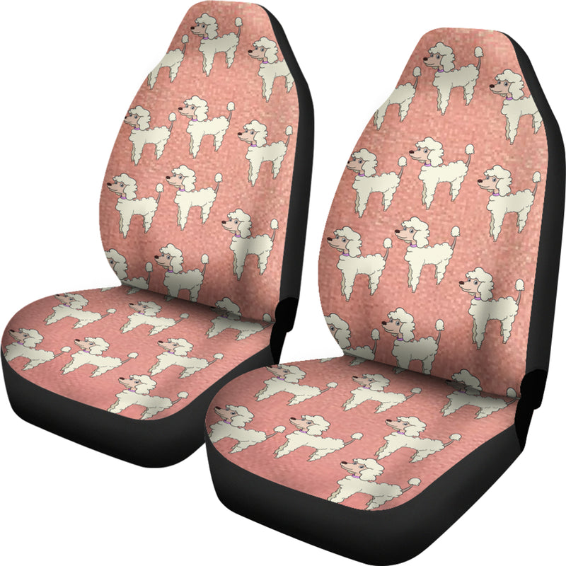 Poodle Car Seat Cover (Set of 2)