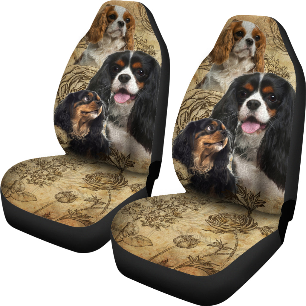 Cavalier King Charles Spaniel Car Seat Covers - 3 (Set of 2)