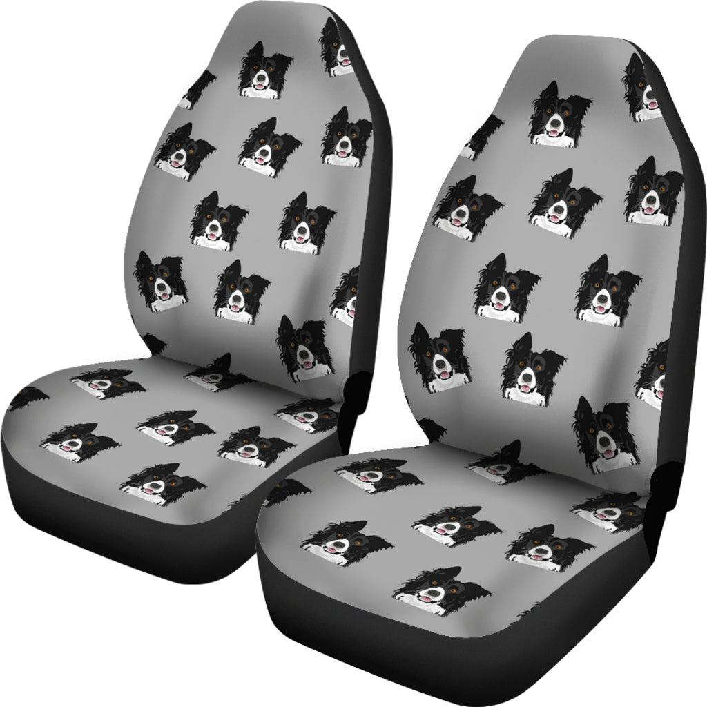 Border Collie Car Seat Cover (Set of 2)