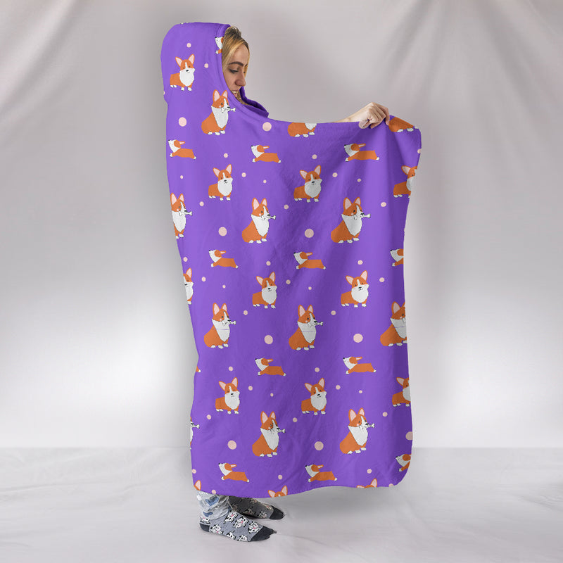 Corgi Hooded Blanket