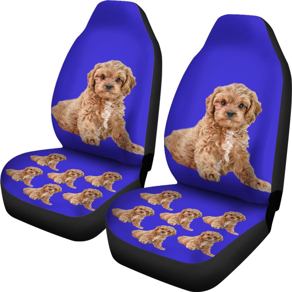 Cavapoo/Cavoodle Car Seat Covers - (Set of 2)
