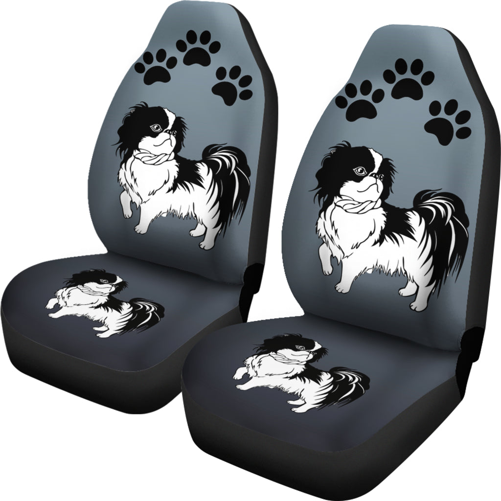 Japanese Chin Car Seat Cover (Set of 2)