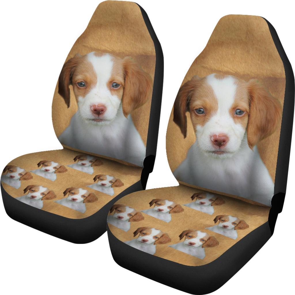 Brittany Spaniel Car Seat Cover (Set of 2)