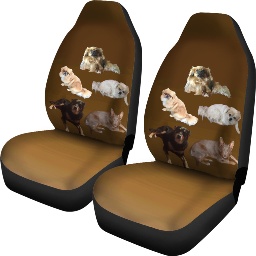 Tibetan Spaniel & Friends Car Seat Cover (set of 2)