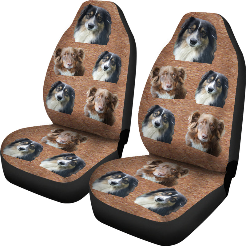 Australian Shepherd Car Seat Covers (Set of 2)