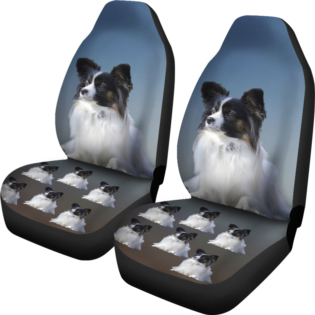 Blue Papillon Car Seat Cover (Set of 2)