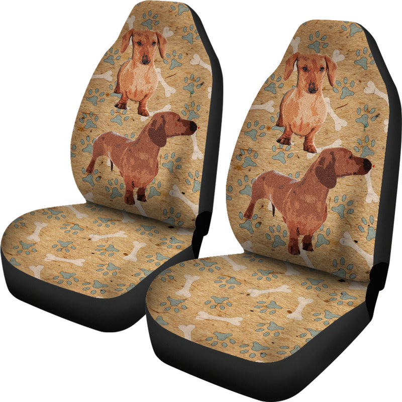 Dachshund Car Seat Covers (Set of 2) - Tan