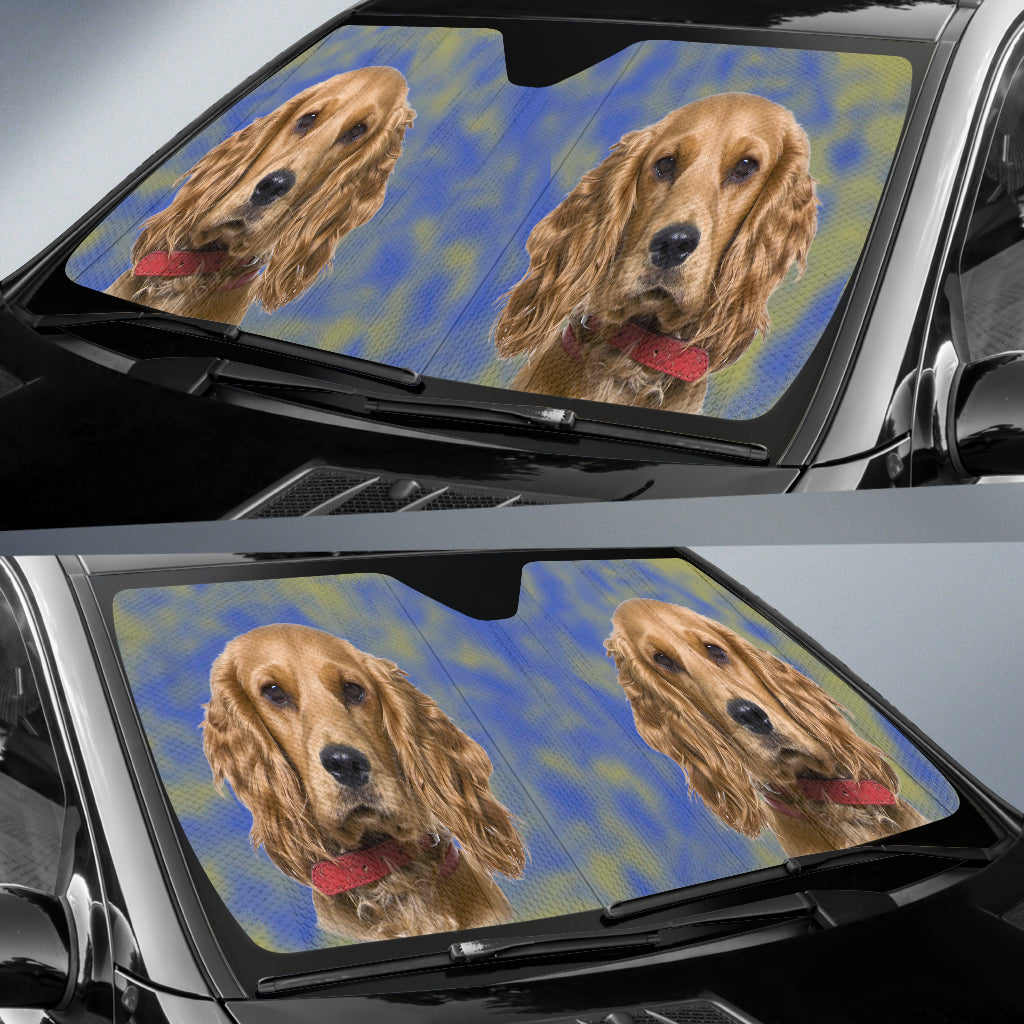 Cocker Spaniel Car Sun Shade
